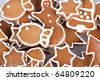 handmade gingerbread cookies, diferent pieces - stock photo