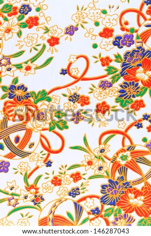 Handmade traditional japanese pattern paper, texture background   - stock photo