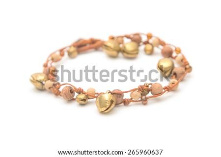 Handmade wooden bracelet - stock photo