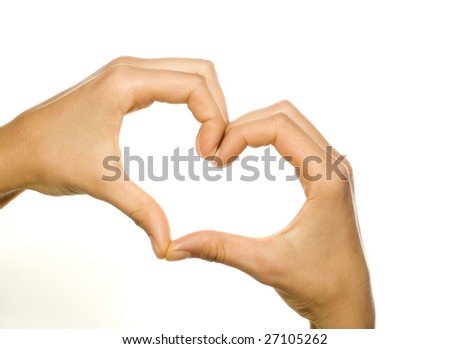hands forming a heart - stock photo