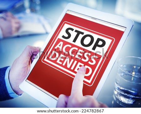 Hands Holding Digital Tablet Accessibility - stock photo
