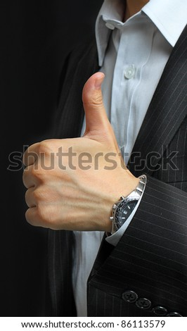 hands make thumbs up - stock photo