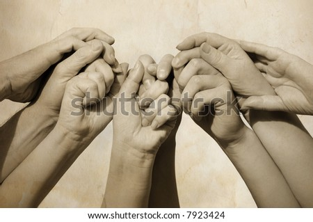 Hands of people - stock photo