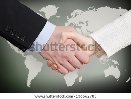 Hands shaking - stock photo