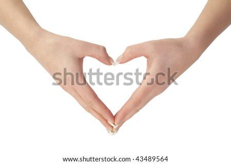 hands shaping a heart - stock photo