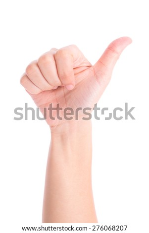 hands show the number six - stock photo