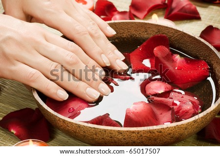 Hands Spa.Manicure concept - stock photo