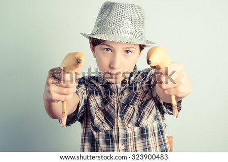 hands up! - stock photo