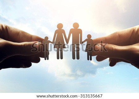 Hands with paper - stock photo