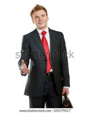 Handshake business concept - stock photo