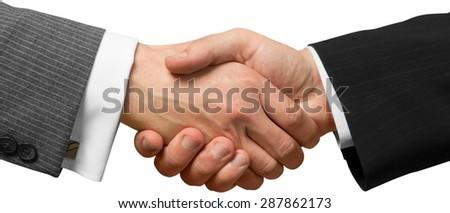 Handshake, Business, Partnership. - stock photo