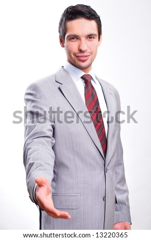 Handshake. Smile - stock photo