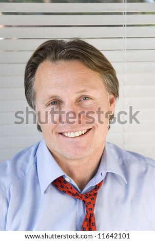 Handsome and happy businessman. - stock photo