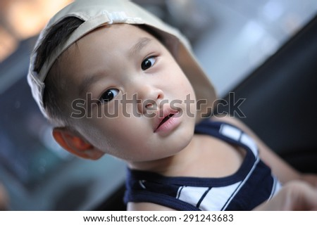 Handsome asian boy - stock photo
