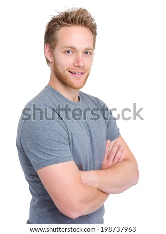 Handsome blond man - stock photo