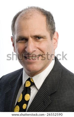 handsome business man executive portrait smiling senior - stock photo