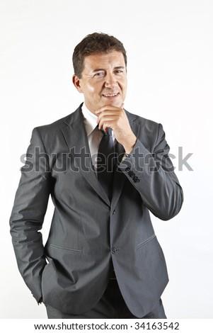 handsome businessman - stock photo