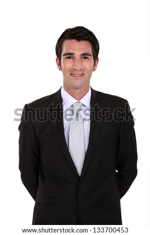 handsome businessman posing - stock photo