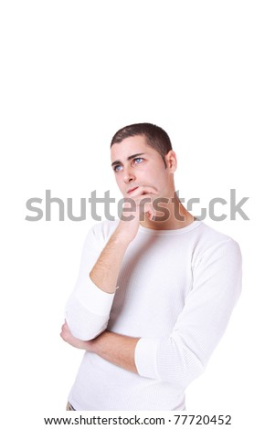 Handsome casual man - isolated over a white background - stock photo