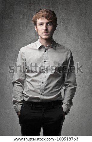 Handsome elegant young man - stock photo
