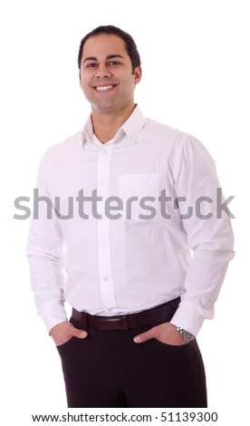 Handsome latino business man with great smile. - stock photo