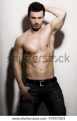 Handsome male - stock photo