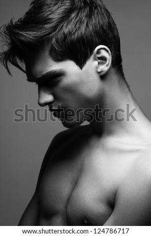 Handsome man - stock photo