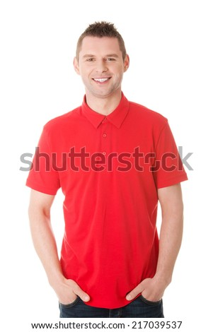 Handsome man clos up portrait - stock photo