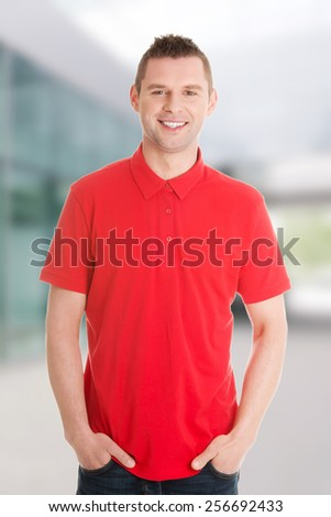 Handsome man close up portrait - stock photo