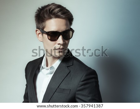 Handsome man in suit.  - stock photo