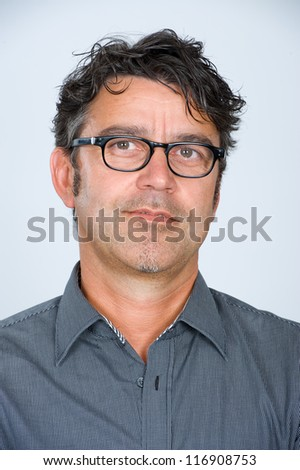 handsome man with glasses - stock photo