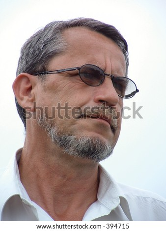 handsome mature man - stock photo