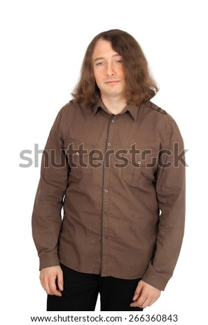 Handsome men doing different expressions in different sets of clothes: sad - stock photo