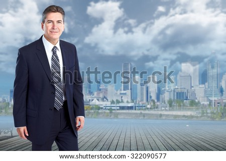 Handsome stylish businessman. Accounting and finance business. - stock photo