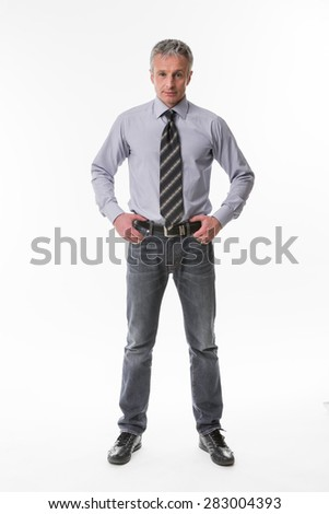 Handsome successful businessman. Confident glance of top manager. - stock photo