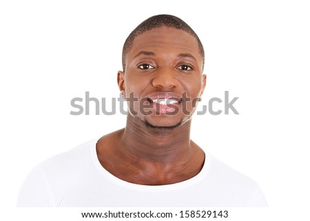 Handsome young african american man in casual clothes. - stock photo