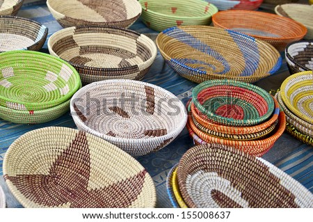 Handwoven African Bowls  - stock photo