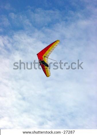 Hang gliding at Fort Funston in San Francisco California - stock photo
