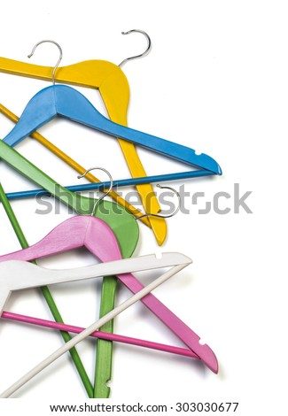 Hangers isolated on the white background - stock photo