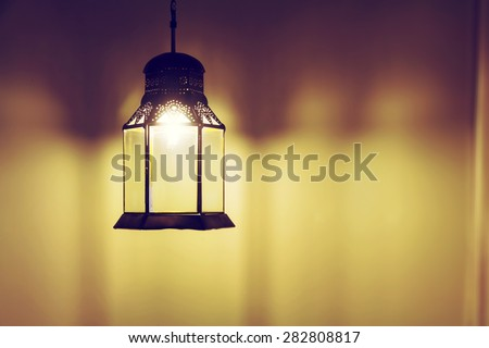 Hanging arabic lamps - stock photo