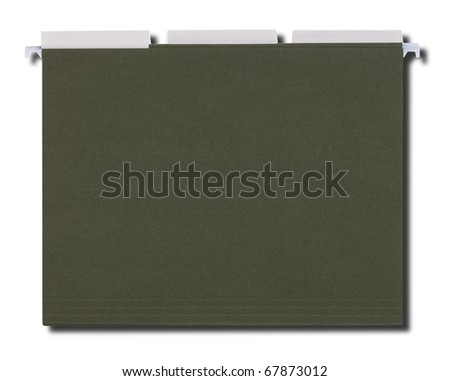 Hanging File Folders with Path - stock photo