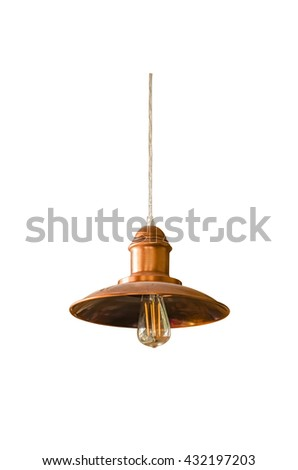 Hanging lamp isolated on white with clipping path - stock photo