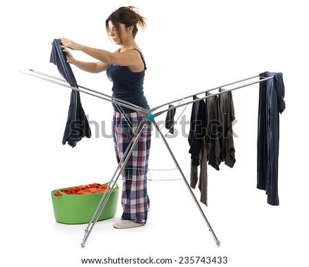 Hanging Laundry - stock photo