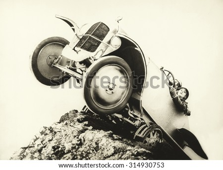 Hanging on for dear life - stock photo