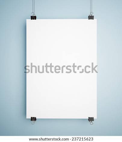 Hanging poster - stock photo