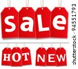 Hanging Sale Tags - stock photo