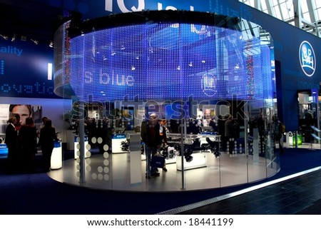 HANNOVER, GERMANY - 1, OCTOBER 2008: 62nd IAA (Internationale Automobil-Ausstellung) Commercial Vehicles, the world largest automotive fair, was held in Hannover from 25 September to 2 October 2008. - stock photo