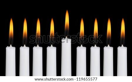 Hanukkah menorah - stock photo