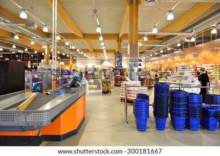 HAPARANDA, SWEDEN - JULY 12, 2015: Candy World is largest candy store in Sweden and Europe!  - stock photo
