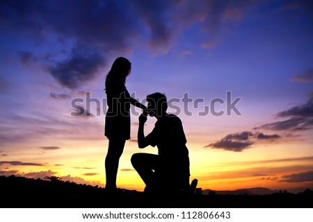 happiness and romantic Scene of love couples partners - stock photo
